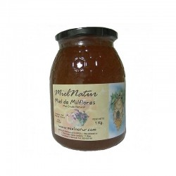 Miel cruda natural de Milflores 0,5 Kg